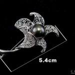 SV南洋(黒蝶)12mmブローチ
