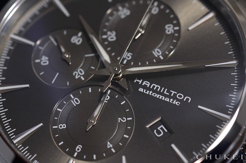 ハミルトン ジャズマスターオートクロノH32586181 ダイヤルのアップ