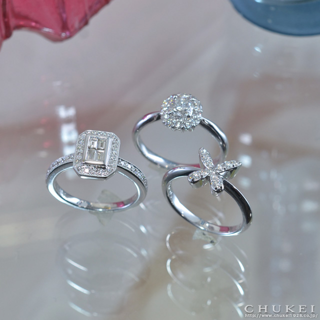 エレガントスタイル ダイヤモンドリング