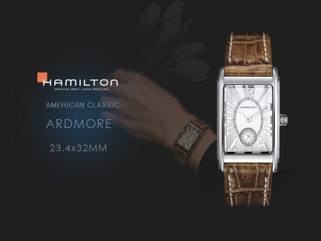 ハミルトン  アードモア ブラウンカーフストラップ 23.4x32mm H11411553