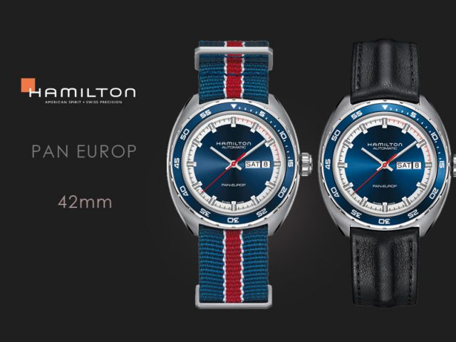 ハミルトン パンユーロ ブルー ブルーテキスタイル&カーフストラップセット H35405941