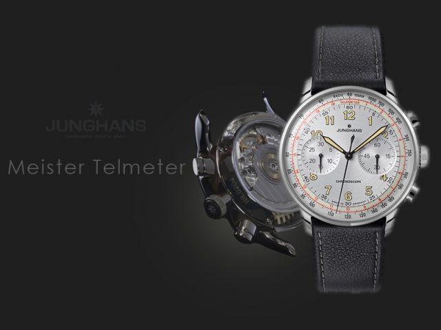 ユンハンス マイスターテレメーター シルバーダイヤル カーフストラップ仕様 027/3380.00