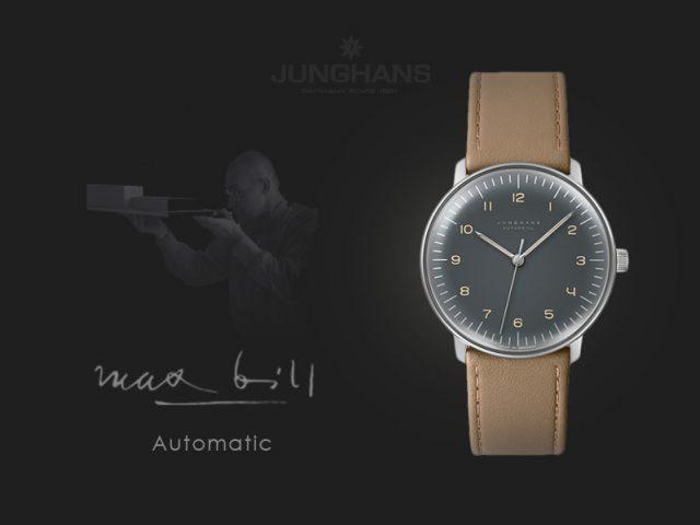 ユンハンス マックスビル 自動巻き38mm グレー・アラビア 027 3401 00
