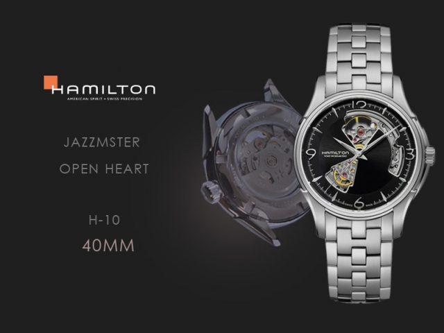 ハミルトン ジャズマスター オープンハートブラック・ブレス仕様 H32565135