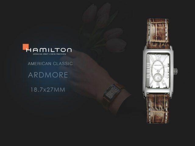 ハミルトン アードモア ブラウンカーフストラップ 18.7x27mm H11211553