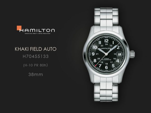 ハミルトン カーキフィールドオート 38mmブレス仕様 H70455133
