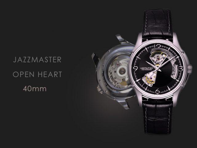 ハミルトン ジャズマスター オープンハート ブラック・ブラックストラップ仕様  H32565735