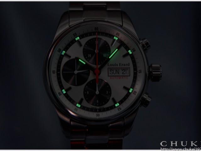 ルイ・エラール  ヘリテージクロノグラフ LE78104AA13BMA22  夜光