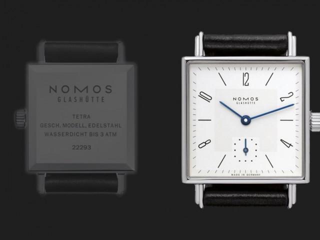 ノモス  テトラ 27.5×27.5 nomos α 手巻き TT1A1W1