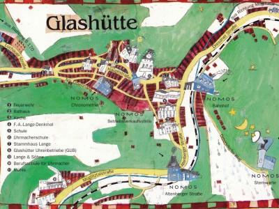 ノモスがあるグラスヒュッテのイラストマップ