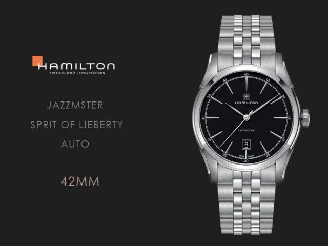 ハミルトン スピリットオブリバティブラック ブレス仕様42MM  H42415031