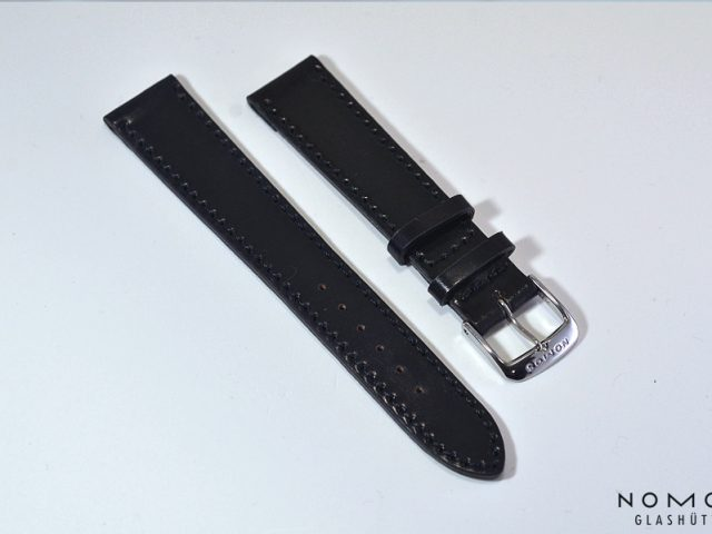 SC18BKMノモス純正シェルコードバン18mm(ブラック)Mサイズ