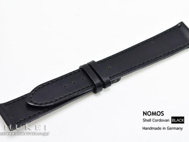 SC1BKRノモス純正シェルコードバン18mm(ブラック)Mサイズ