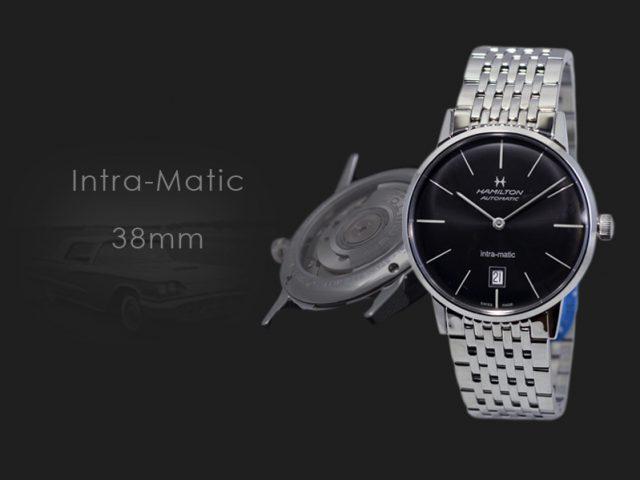 ハミルトン イントラマティック38MM ブラックブレス H38455131