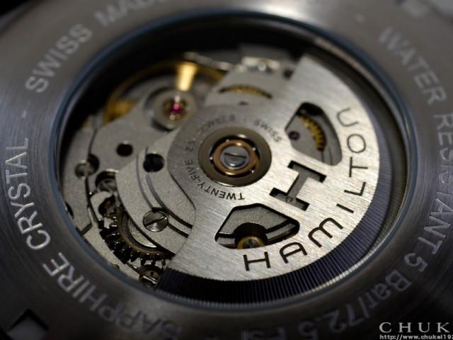 ハミルトン カーキフィールドH70505833 シースルーバック