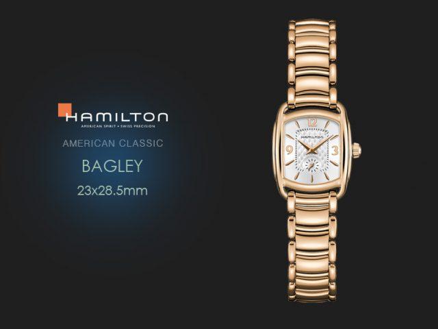 ハミルトン バグリー ピンクゴールド PVDブレス H12341155