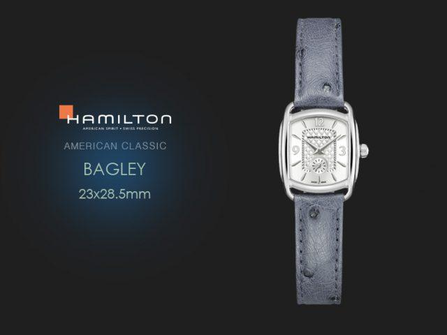 ハミルトン バグリー シルバーインデックス ブルー・グレーオースト H12351655