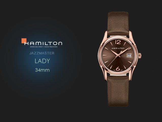 ハミルトン ジャズマスター レディ レッドゴールドPVD 34mm H32341975