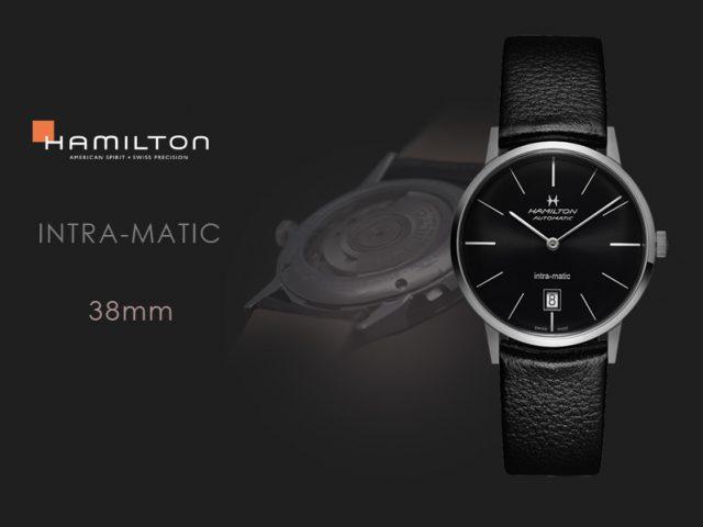 ハミルトン イントラマティック ブラック  38MM  H38455731