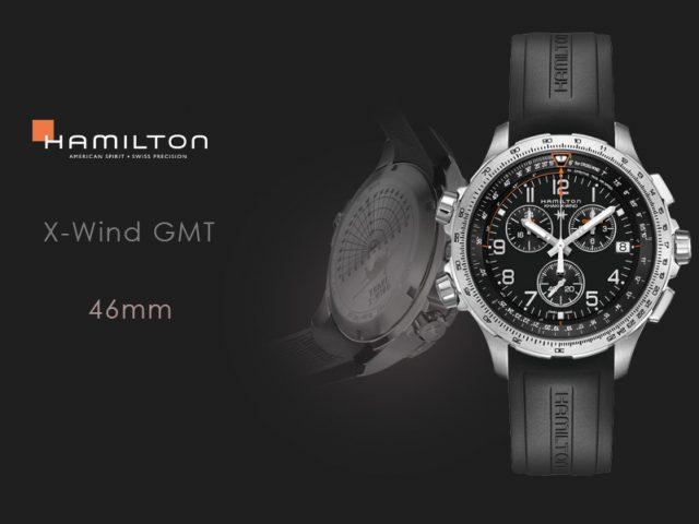 ハミルトン カーキX-WIND GMT H77912335 ブラックラバー