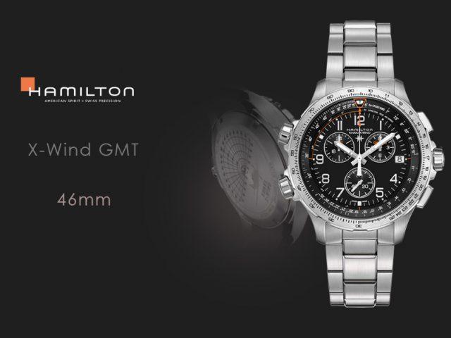 ハミルトン カーキX-WIND GMT H77912135 ステンレススチールブレス