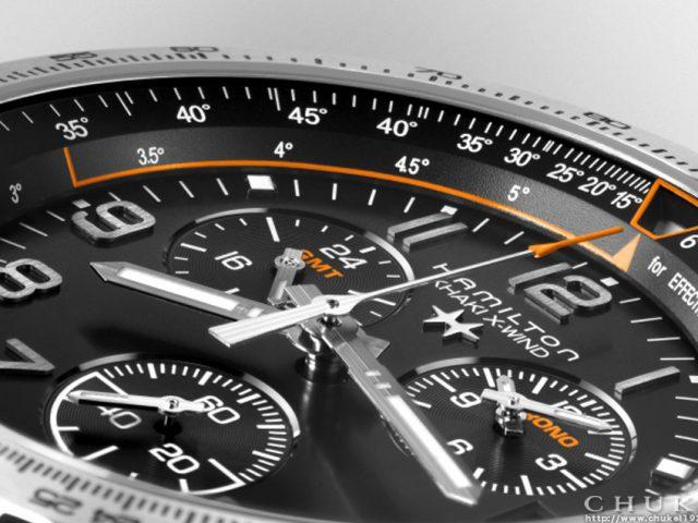 ハミルトンX-windGMT H77912535 ダイヤルアップ