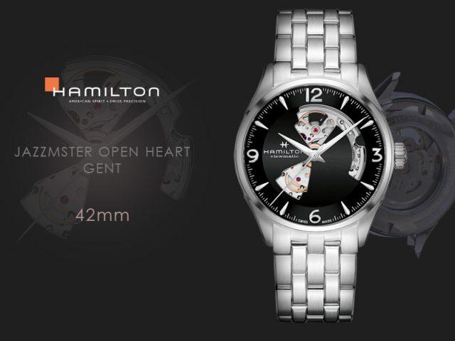 ハミルトン ジャズマスター オープンハート42MM  ブラック ブレス仕様 H32705131