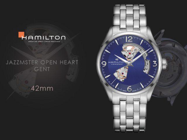 ハミルトン ジャズマスター オープンハート42MM ブルー ブレス仕様 H32705141