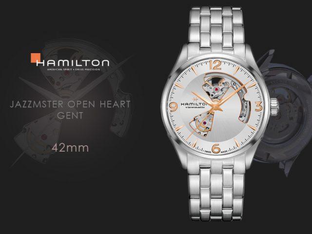 ハミルトン ジャズマスター オープンハート 42MM シルバー ブレス仕様 H32705151