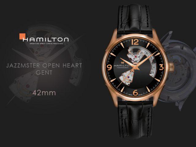 ハミルトン ジャズマスター オープンハート42MM レッドゴールドPVD H32735731