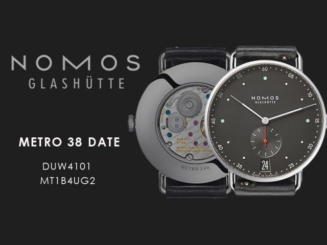 ノモス  メトロ 38ディト  アーバングレーMT1B4UG2(DUW4101)手巻