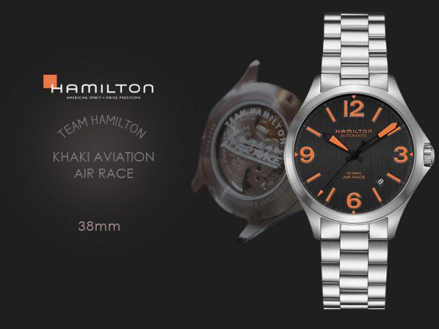 ハミルトン カーキエアレース チームハミルトン モデル 38MM H76235131