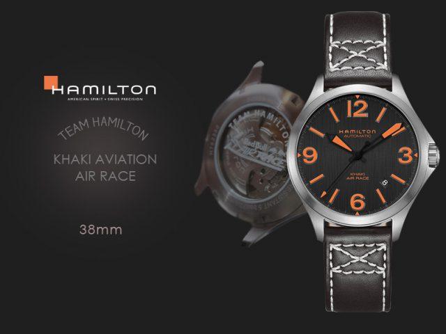 ハミルトン カーキエアレース チームハミルトン モデル 38MM H76235731