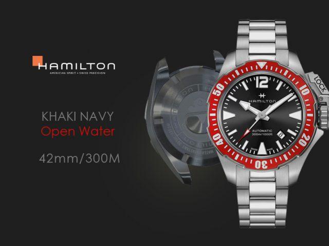 ハミルトン カーキネイビー オープンウォーター 42mm H77725135 レッドベゼル ブレス