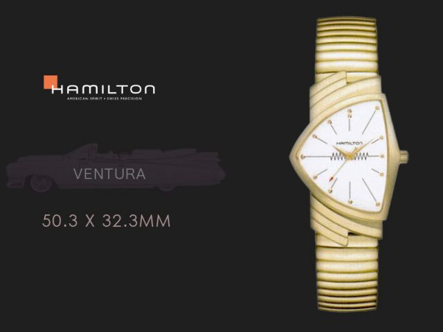 ハミルトン ベンチュラ イエローゴールドPVD フレックススチールブレス H24301111