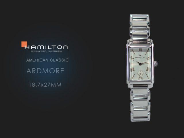 ハミルトン アードモア 18.7x27mm H11221114 スチールブレス仕様