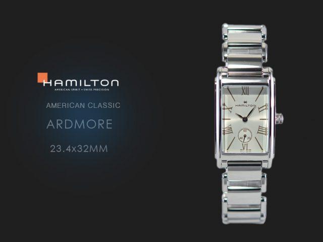 ハミルトン アードモア 23.4x32mm  SSブレス仕様 H11421114