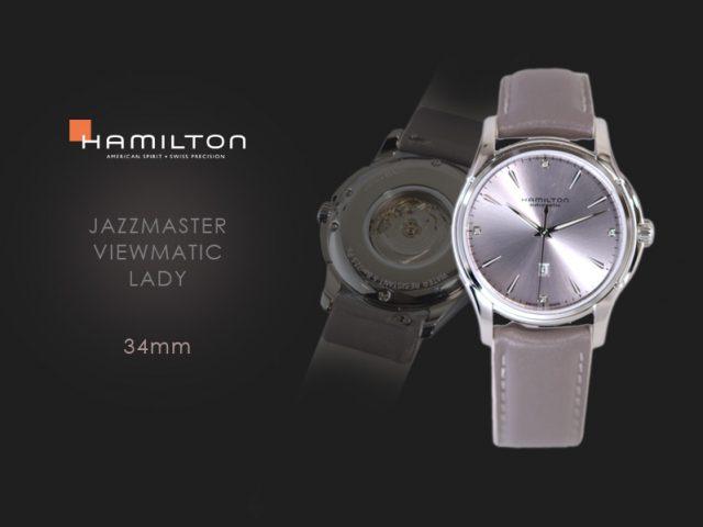 ハミルトン ジャズマスタービューマチックレディ パープルダイヤル H32315891