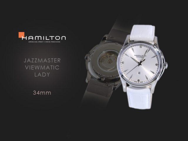 ハミルトン ジャズマスタービューマチックレディ ホワイトダイヤル H32315811