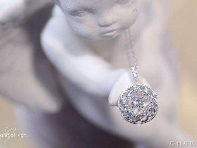 K18ダイヤモンドペンダント 天使の手