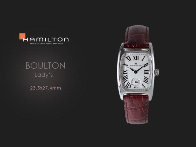 ハミルトン ボルトン(S)23.5×27.4mm レッドカーフH13321811