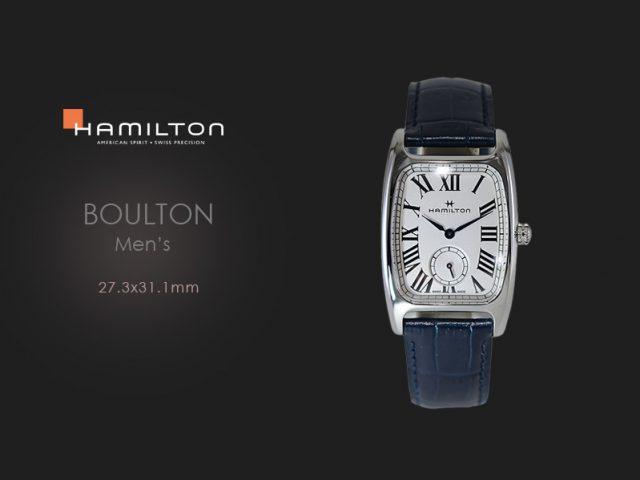 ハミルトン ボルトン(L)27.3×31.1mm ブルーカーフH13421611