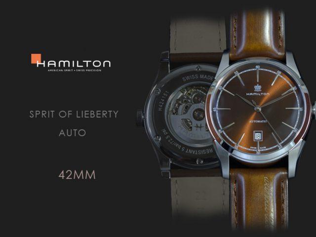 ハミルトン スピリットオブリバティ オート ブラウン H42415501