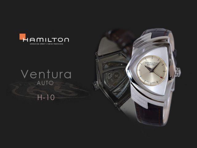 ハミルトン ベンチュラ オート H24515521 ブラウンカーフストラップ