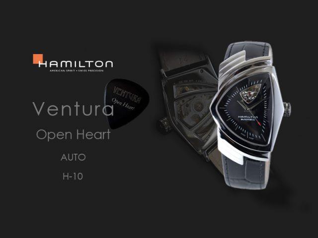 ハミルトン ベンチュラ オープンハート ブラック H24515732