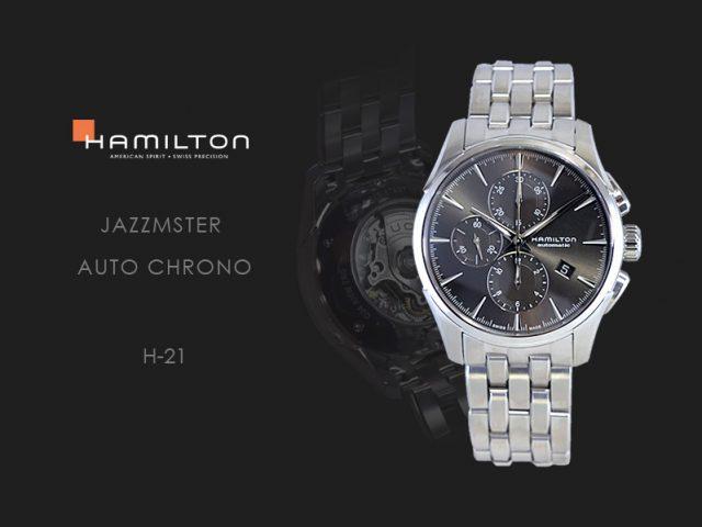 ハミルトン ジャズマスターオートクロノ グレー/ブレス H32586181
