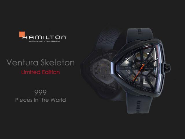 ハミルトン ベンチュラ スケルトン 限定モデル(世界999本)H24595331