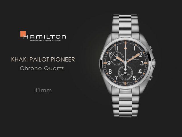 ハミルトン カーキアビエーションパイロット パイオニア クロノクォーツ ブレス H76522131