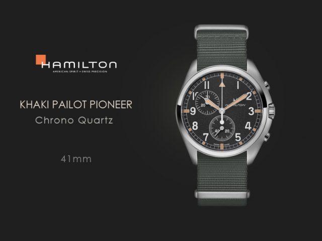 ハミルトン カーキアビエーションパイロット パイオニア クロノクォーツ グレーテキスタイル  H76522931