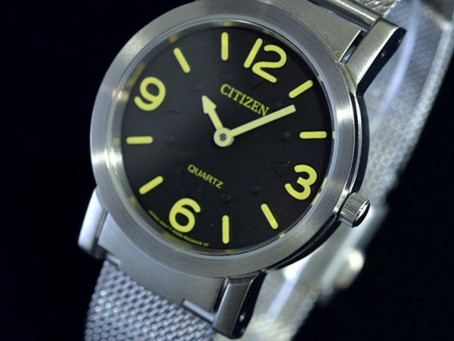 シチズン視覚障害者対応時計AC2200-55E ダイヤル